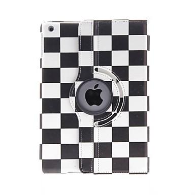 Maska Pentru Apple Cu Stand / Model / Rotație 360 ° Carcasă Telefon Model Geometric PU piele pentru iPad Air