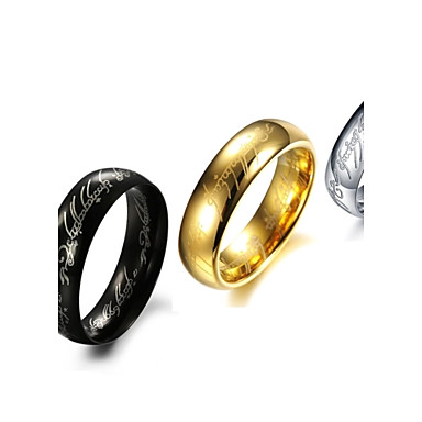 rings fashion stainless steel gold silver band rings 3