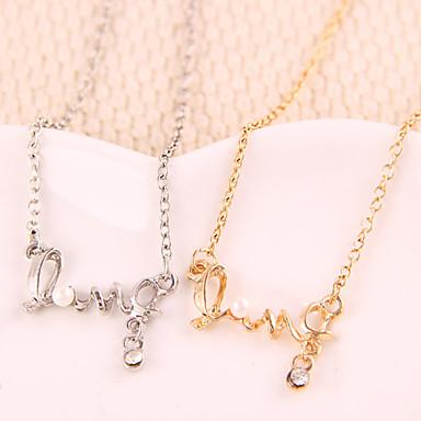 Pentru femei Coliere cu Pandativ Monogramă Iubire Modă Aliaj Auriu Argintiu Coliere Bijuterii Pentru Petrecere