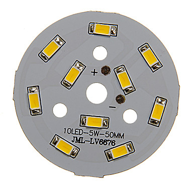 ieftine LED-uri-zdm 1pc 5w 450-500lm 10 x 5730 smd LED-uri sursă de lumină bord cald lumină albă 3000-3500k (15-18v 0.3a)