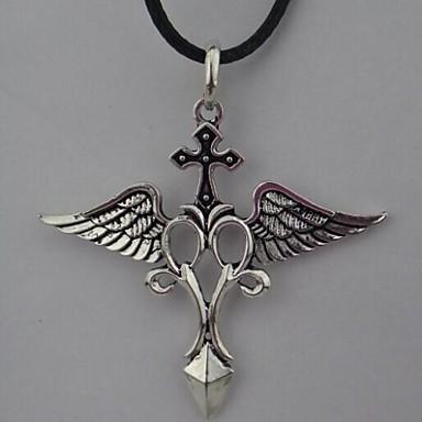 Недорогие Ожерелья-Ожерелья с подвесками европейский Кожа Сплав Серебряный Ожерелье Бижутерия Назначение Повседневные Спорт