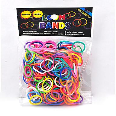 baoguang®600pcs culoare curcubeu război de țesut banda de cauciuc război de țesut de moda colorate (clip 1package e)