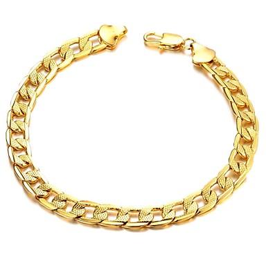 Недорогие Браслеты-Браслет разомкнутое кольцо Дубай Позолота Браслет Ювелирные изделия Назначение Свадьба Для вечеринок Повседневные