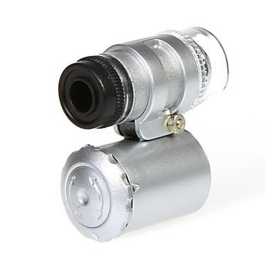 Microscop Mini 60x cu 2 LED-uri iluminare de valuta Detectarea lumina UV pentru iPhone 5/5S (3 * LR1130)