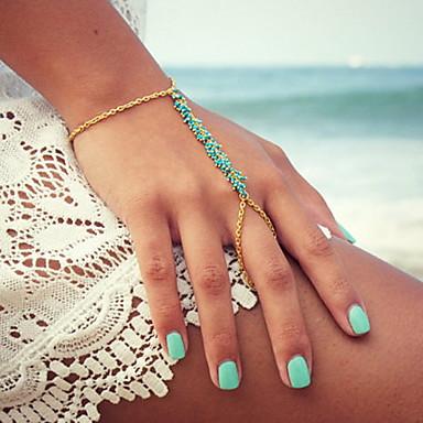 Pentru femei Brățări cu Talismane Ring Bracelets Vărsătorul Sclavii de aur femei Design Unic Modă Reșină Bijuterii brățară Auriu Pentru Petrecere Zilnic Casual