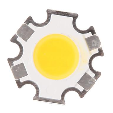 zdm® 1pc de înaltă performanță led / cob cald alb 280-320 lm luminos / bulb accesoriu corp silicon complet / sârmă de aur pur a condus led chip 3 w