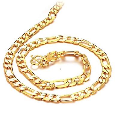Bărbați Lănțișoare Baht Chain femei 18K Placat cu Aur Placat Auriu Aur Alb Auriu Coliere Bijuterii Pentru Cadouri de Crăciun Nuntă Petrecere Zilnic Casual