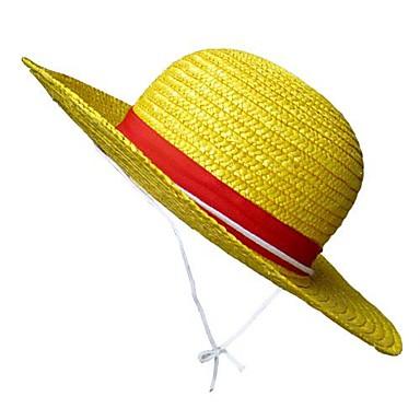 Sombrero   Gorra Inspirado por One Piece Monkey D. Luffy Animé Accesorios  de Cosplay Sombrero Cuerda de paja Hombre nuevo   caliente Disfraces de  Halloween ... e01825800bb