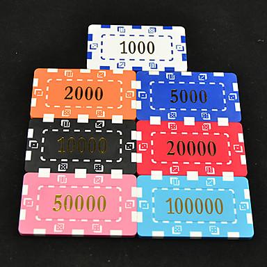 olcso Dice és Chips-mahjong box alkalmazni 43mm texas hold'em póker mahjong zseton arcylic keret játékok