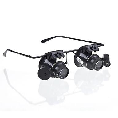 olcso Mikroszkópok és nagyítók-Szemüveg Type 20x nagyító fehér LED-es (4xCR1620)