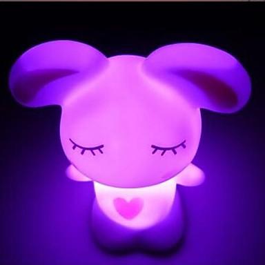 Coway Lovely Dragostea Iepure de colorat cu LED-uri de noapte Lumina