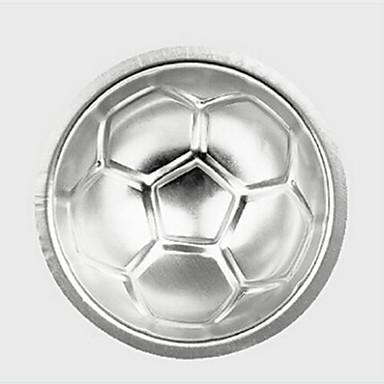 3d formă de fotbal tort mucegai aluminiu sferă non-toxice tort mucegai ciocolată pan bucătărie bucătărie instrumente de copt