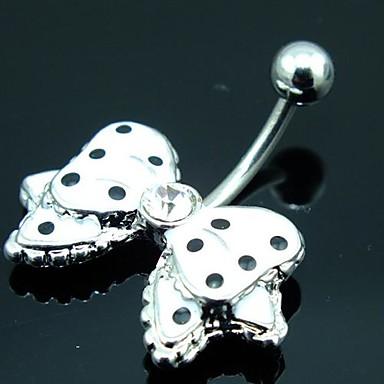 Pentru femei Bijuterii de corp Inel inelar / Piercing pe burta Cristal Argintiu Cristal Costum de bijuterii Pentru Zilnic / Casual 3.5*1.8*0.6 cm Vară