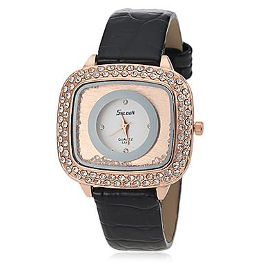 Pentru femei Diamond Watch Piața de ceas Quartz Piele PU Matlasată Negru / Alb / Roșu Analog Bling bling - Negru Portocaliu Rosu