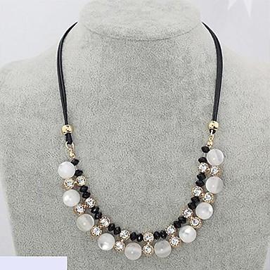 Pentru femei Sintetic Opal Coliere Colier Piele  Diamante Artificiale Șarpe femei Lux Coliere Bijuterii Pentru Nuntă Petrecere Zilnic Casual