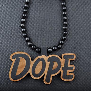 468290bcb móda pěkný hip hop drogy přívěsek hnědé dřevo náhrdelník s přívěskem (1 ks)  1695021 2019 – €5.99