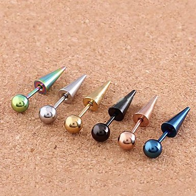 olcso Kisporc fülpiercing-Női Testékszer Fül piercing Rozsdamentes acél Jelmez ékszerek Kompatibilitás Napi / Hétköznapi 1.2*0.2*0.1 cm Nyár