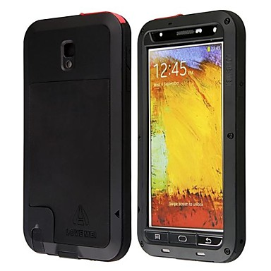 voordelige Galaxy Note-serie hoesjes / covers-hoesje Voor Samsung Galaxy Note 3 Waterbestendig / Schokbestendig / Stofbestendig Volledig hoesje Schild Metaal