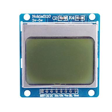 """olcso Kijelzők-1.6 """"nokia 5110 lcd modul kék háttérvilágítással (az Arduino)"""