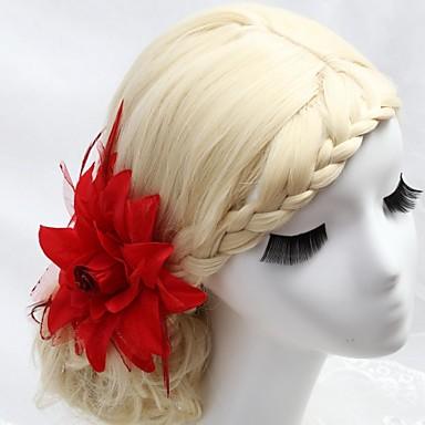 ieftine Bijuterii de Păr-Cristal / Pană / Material Textil Diademe / Îmbrăcăminte de păr / Flori cu 1 Nuntă / Ocazie specială / Party / Seara Diadema