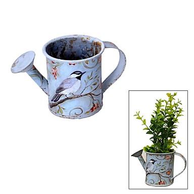 Vintage Stil Mini Bitki Saksi Ve Ferforje Cicek Sulama Pot 1567774