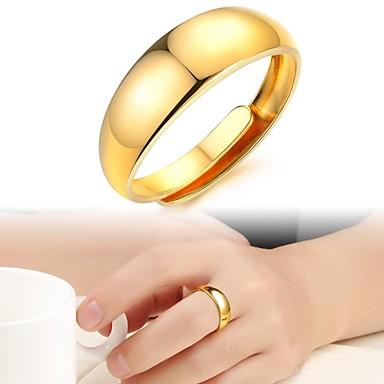 Pentru femei Band Ring - Placat Auriu Modă Bijuterii Pentru Nuntă Petrecere Zilnic Casual Ajustabil