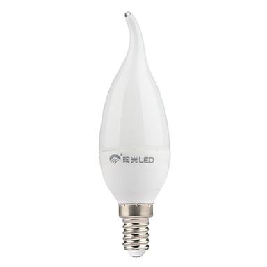 Becuri LED Lumânare 200 lm E14 CA35 7 LED-uri de margele SMD 3528 Alb Rece 220-240 V / GMC