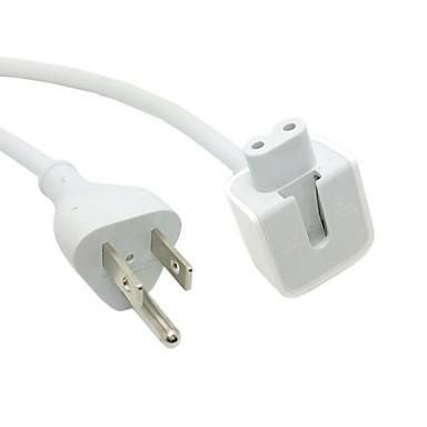 USA Plug to C7 White Power Cord for Macbook Macbook Air Pro & IPad ...