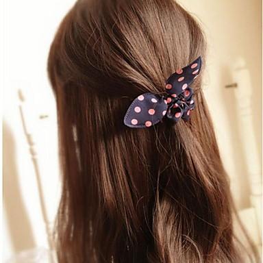 urechi de iepure bowknot simplu benzile practice de păr elastic mare (culoare aleatorii)