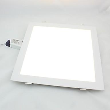 zdm 1pc 24w 1950lm pătrat plat LED-uri panoul de lumină lampultra-subțire condus încastrat plafon lumina alb rece / cald alb ac85-265v gaura montare 285 * 285mm