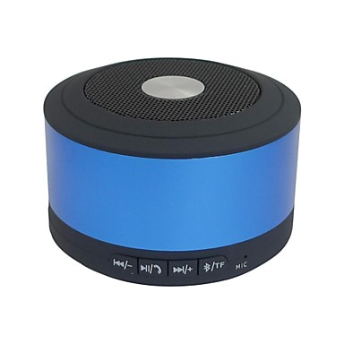 Outdoor Indoor Bluetooth Portable Wireless Bluetooth 3.0 3.5mm AUX USB Bookshelf Speaker Black Silver Red Blue