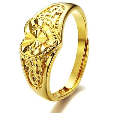Pentru femei Band Ring Placat Auriu Asiatic Modă Nuntă Petrecere Bijuterii