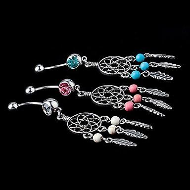 Pentru femei Bijuterii de corp Inel inelar / Piercing pe burta Cristal Alb / Albastru / Roz femei Cristal Costum de bijuterii Pentru Zilnic / Casual 3.5*1.8*0.6 cm Vară