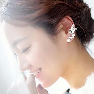 Pentru femei Cătușe pentru urechi Căști de cățărare Modă Perle Imitație de Perle Ștras cercei Bijuterii Alb Pentru Petrecere Zilnic Casual
