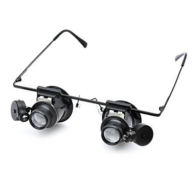 olcso Mikroszkópok és nagyítók-Mikroszkópok Nagyítók Nagyító szemüveg szakmai szint Lencse LED izzóval Klasszikus Üveg ABS Klasszikus Gyerekek Fiú Lány Játékok Ajándék