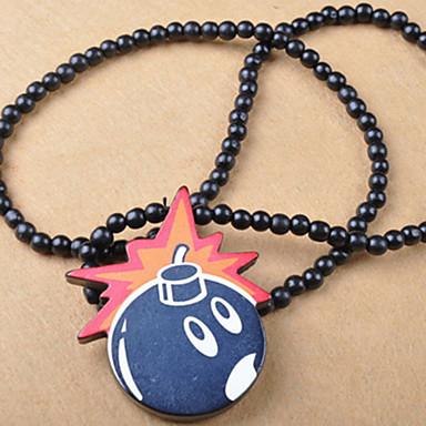 1c3cb90ae móda pěkný bomba přívěsek černé dřevo náhrdelník s přívěskem (1 ks) 1695031  2019 – €5.99