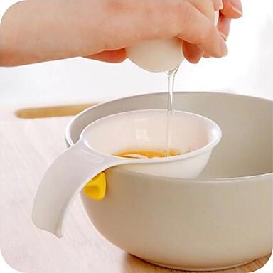 مصغرة صفار البيض الأبيض فاصل مع حامل سيليكون أداة مطبخ فاصل البيض