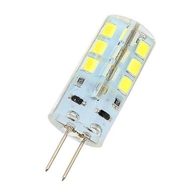 3 W Becuri LED Bi-pin 180 lm G4 24 LED-uri de margele SMD 2835 Alb Rece 12 V / # / CE / RoHs