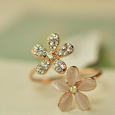Pentru femei Band Ring degetul mare Auriu Opal Diamante Artificiale Aliaj femei Deschis Zilnic Bijuterii Floare Margaretă Ajustabil / Ștras