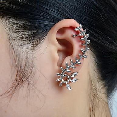 Pentru femei Cătușe pentru urechi Căști de cățărare Leaf Shape Lux Ștras Diamante Artificiale cercei Bijuterii Pentru Nuntă Petrecere Zilnic Casual Sport