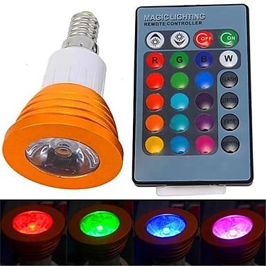 YWXLIGHT® 1 buc 3 W 250-300 lm E14 Spoturi LED 1 LED-uri de margele LED Putere Mare Telecomandă RGB 85-265 V