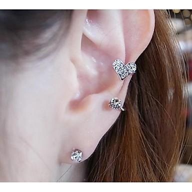 Pentru femei Diamant sintetic Cercei Stud Cătușe pentru urechi Imitație de Perle Ștras cercei Bijuterii Pentru Nuntă Petrecere Zilnic Casual