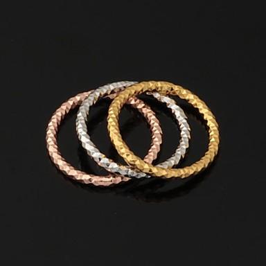 Pentru femei Inele Cuplu Band Ring Inel de declarație Placat cu platină Placat Auriu Aur alb Circle Shape Geometric Shape Nuntă Petrecere Bijuterii