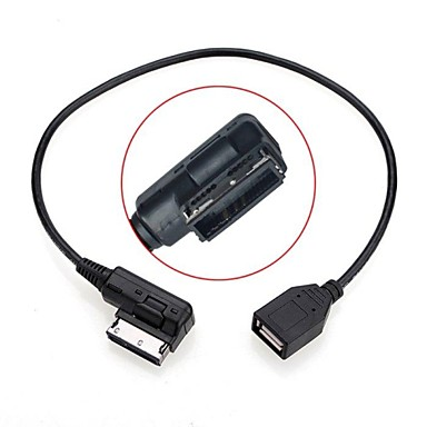 0,2M de sex masculin la feminin mass-media în ami MDI USB cablu adaptor unitate flash aux pentru vw audi automobil 2014 a4 a6 Q5 Q7