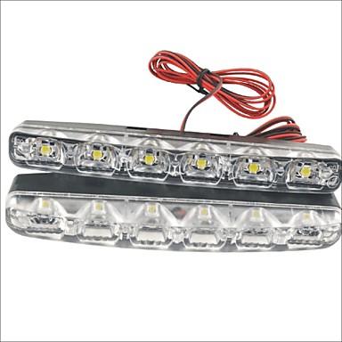 2pcs Conexiune prin cablu Mașină Becuri 1.2 W SMD LED 250 lm 6 LED Lumini de interior Pentru