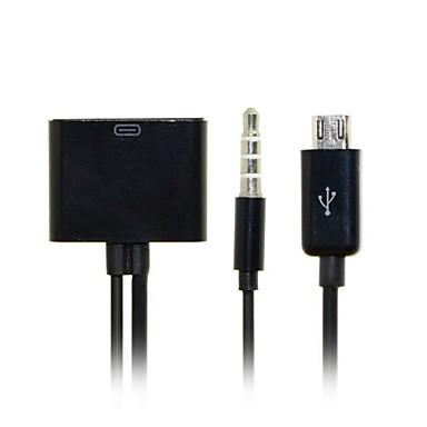 30Pin feminin la micro USB 5 pini de încărcare a datelor de sex masculin cu cablu audio pentru s3 / S4 / S5 / Nota 2 / note3& transport gratuit