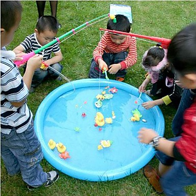 olcso víz gyermekjátékok-öt kacsa csomag horog egy kacsa társasjáték vízi játékok