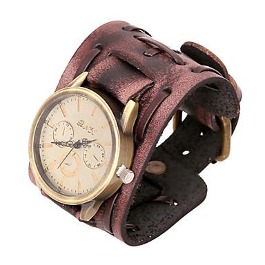 Недорогие Браслеты-Мода часы 20см мужская коричневая кожа кожаный браслет (коричневый) (1 шт)