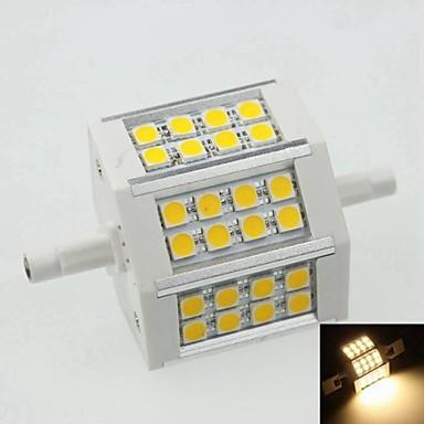 SENCART 1 buc 8 W Spoturi LED 500 lm R7S 24 LED-uri de margele Alb Cald 100-240 V