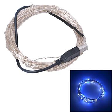 xinyuanyang® usb 6W 100-0603 smd lumina alb albastru condus benzi lampă - argint (DC 5V / 1000cm)